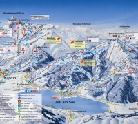 Zell am See Ski Area Map