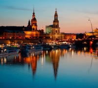 Dresden Panorama. Germany Tourism