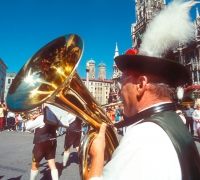Band in Marienplatz