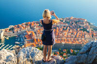 panoramic photo of the old city of Dubrovnik
