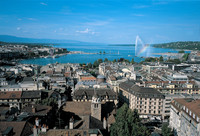 Geneve's city center by the lake shores