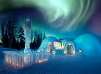 Ice Bar i Aurores Boreals