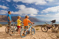 La Graciosa by bike. Lanzarote Tourism