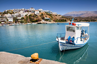 Agia Galini harbor in Crete Island