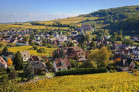 Andlau in the fall, Alsace, France