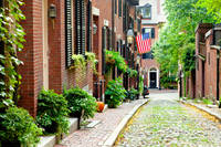 Cobblestone street in Boston