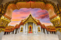 Marble Temple of Bangkok, Thailand.